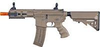 Tippmann Recon AEG Shorty 6 in. Barrel M-Lok Shroud - Tan - Orange Tip
