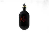 Ninja SL2 Carbon Fiber Air Tank - 68/4500 with ProV2 Regulator - Black / Red
