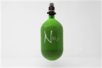 Ninja SL2 Carbon Fiber Air Tank - 68/4500 with ProV2 Regulator - Lime
