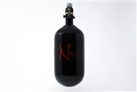 Ninja SL2 Carbon Fiber Air Tank - 77/4500 with ProV2 Regulator - Black / Red