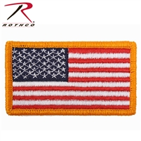Rothco American Flag Patch - Gold Border