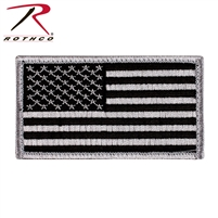 Rothco American Flag Patch - Black / Silver
