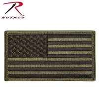 Rothco American Flag Patch - Olive / Black