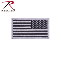 Rothco Reverse American Flag Patch - Silver / Black