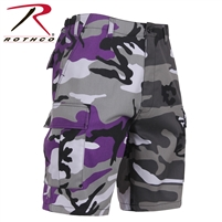 Rothco Two-Tone Camo BDU Short - Ultra Violet Purple / City Camo