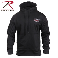 Rothco Thin Red Line Concealed Carry Hoodie - Black - 2XL