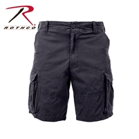 Rothco Vintage Solid Paratrooper Cargo Short - Black