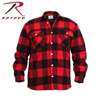 Rothco Fleece Lined Flannel Shirt - Red