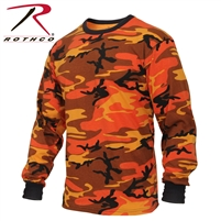 Rothco Long Sleeve Colored Camo T-Shirt - Savage Orange