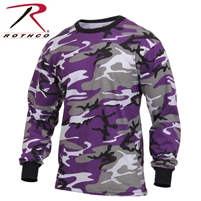 Rothco Long Sleeve Colored Camo T-Shirt - Ultra Violet - 2XL