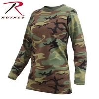 Rothco Womens Long Sleeve Camo T-Shirt - Woodland