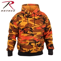 Rothco Pullover Hooded Sweatshirt - Savage Orange Camo - 3XL