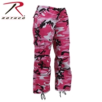 Rothco Womens Paratrooper Colored Camo Fatigues - Pink
