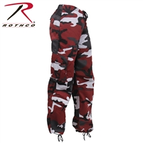 Rothco Womens Paratrooper Colored Camo Fatigues - Red