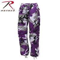 Rothco Womens Paratrooper Colored Camo Fatigues - Ultra Violet