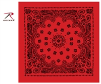 "Rothco Trainmen 22"" x 22"" Paisley Bandana - Red / Black"