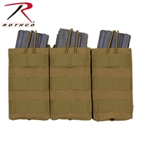 Rothco MOLLE Open Top Triple Mag Pouch - Coyote