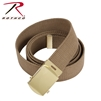 Rothco 54 Inch Military Web Belt - Coyote / Gold