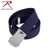 Rothco 54 Inch Military Web Belt -  Navy / Chrome