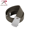 Rothco 54 Inch Military Web Belt -  Olive/ Chrome