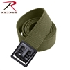 Rothco Military Web Belt w/ Black Open Face Buckle - Olive