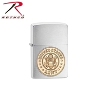 Rothco Zippo Military Crest Lighter - Army Chrome