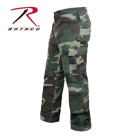 Rothco Vintage 6-Pocket Flat Front Fatigue Pants - Woodland