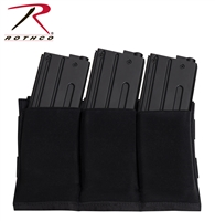 Rothco Lightweight 3Mag Elastic Retention Pouch -Black