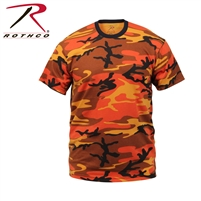 Rothco Colored Camo T-Shirt - Savage Orange