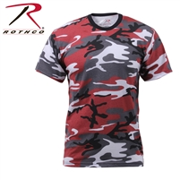Rothco Colored Camo T-Shirt - Red