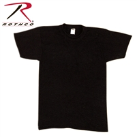 Rothco Solid Color Poly/Cotton Military T-Shirt - Black - 3XL