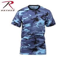Rothco Colored Camo T-Shirts - Sky Blue