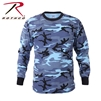 Rothco Long Sleeve Camo T-Shirt - Sky Blue 2XL