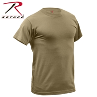 Rothco Quick Dry Moisture Wicking T-Shirt - Coyote
