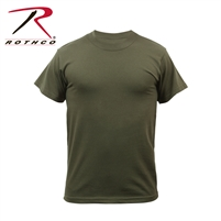 Rothco Solid Color Poly/Cotton Military T-Shirt - Olive Drab - 3XL