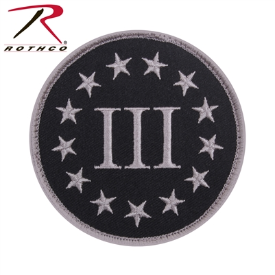 Rothco Three Percenter Patch