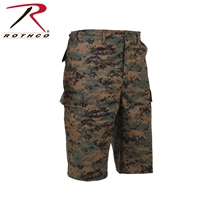 Rothco Long Length Camo BDU Short - Digital Woodland