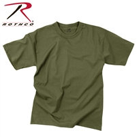 Rothco Solid Color 100% Cotton T-Shirt - OD Green - 2XL