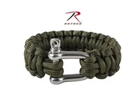 Rothco Paracord Bracelet With D-Shackle - Olive