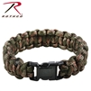 Rothco Multi-Colored Paracord Bracelet - Woodland Camo