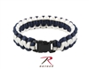 Rothco Two-Tone Paracord Bracelet - Midnight Blue / White