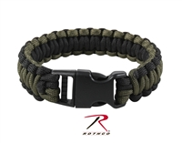 Rothco Deluxe Paracord Bracelets - Black / Olive