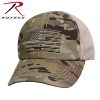 Rothco Multicam Tactical Mesh Back Cap With Embroidered US Flag