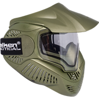 Valken Paintball MI-7 Goggle/Mask with Dual Pane Thermal Lens - Olive