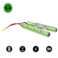 Valken Airsoft Battery - NiMH 9.6V 2200mAh Split Style