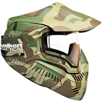 Valken Paintball MI-7 Goggle/Mask with Dual Pane Thermal Lens - Woodland Camo