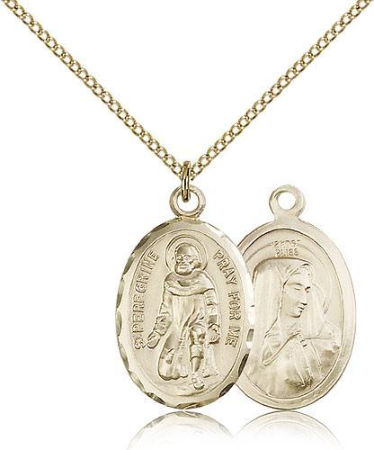 Gold filled st peregrine pendant gold filled lite curb chain 1 x gold filled st peregrine pendant gold filled lite curb chain 1 x 58 mozeypictures Gallery
