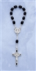 Saint Benedict One Decade Rosary  Black Beads