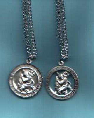 St. Christopher, Patron of Travelers, Sterling Silver Medal