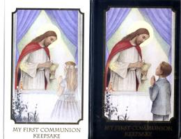 My First Communion Keepsake Prayerbook, Wallet Set, or Satin Purse Set